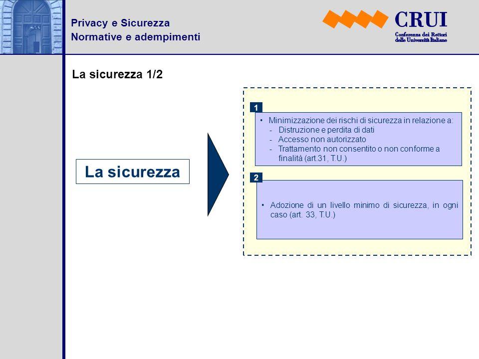 La sicurezza La sicurezza 1/2 Privacy e Sicurezza