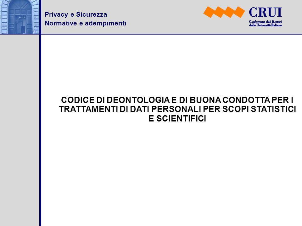 Privacy e SicurezzaNormative e adempimenti.