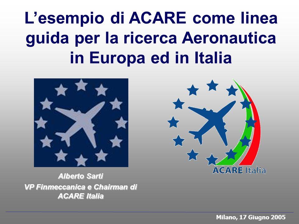 VP Finmeccanica e Chairman di ACARE Italia