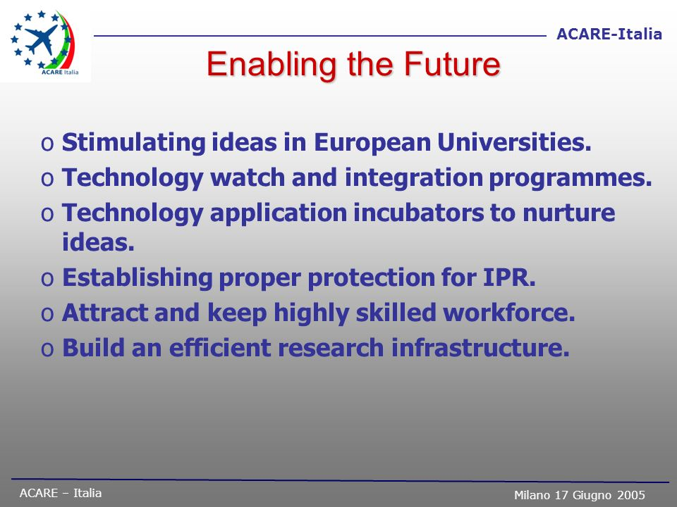 Enabling the Future Stimulating ideas in European Universities.
