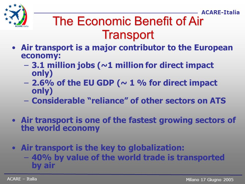 The Economic Benefit of Air Transport