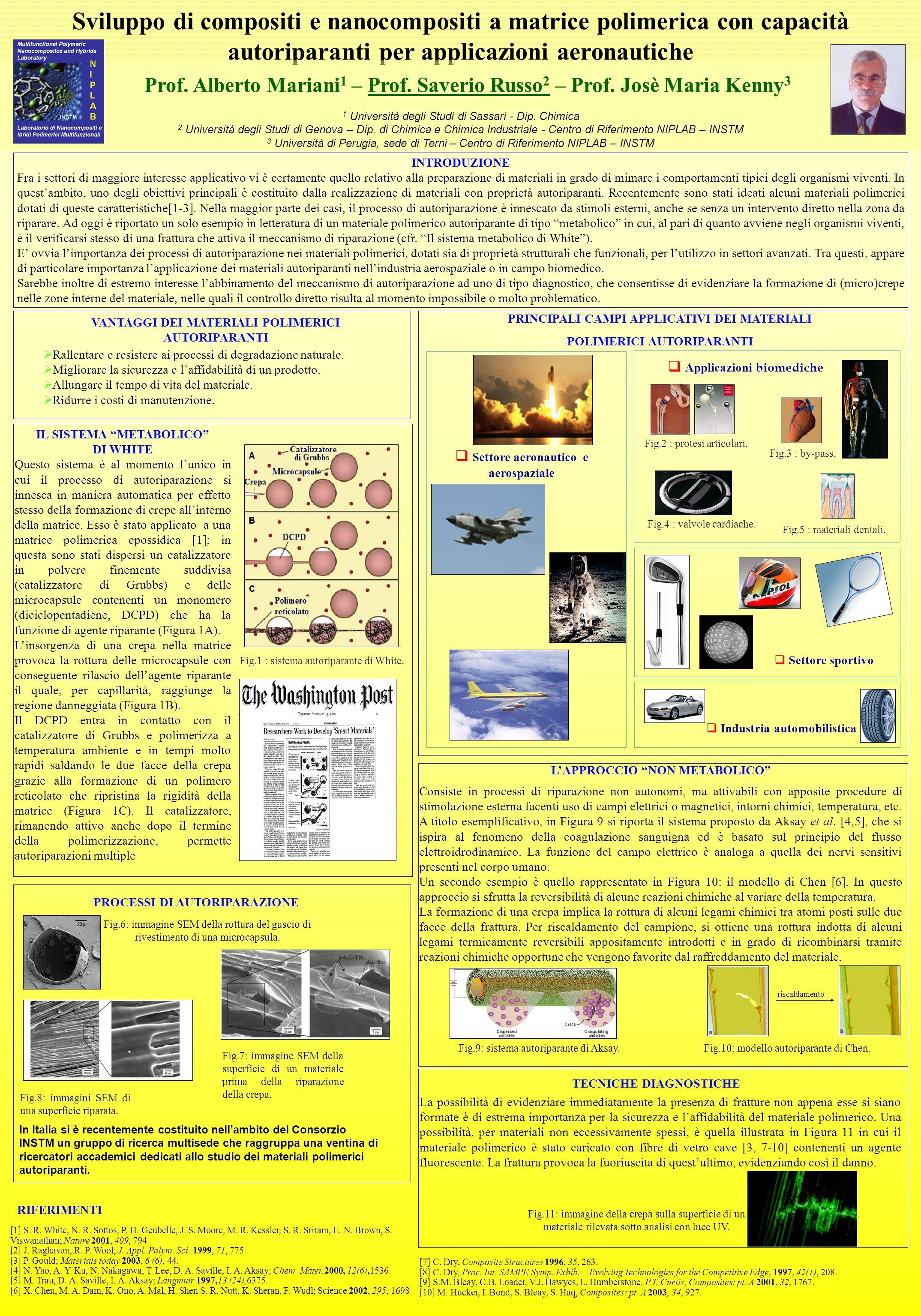 Sviluppo di compositi e nanocompositi a matrice polimerica con capacità autoriparanti per applicazioni aeronautiche