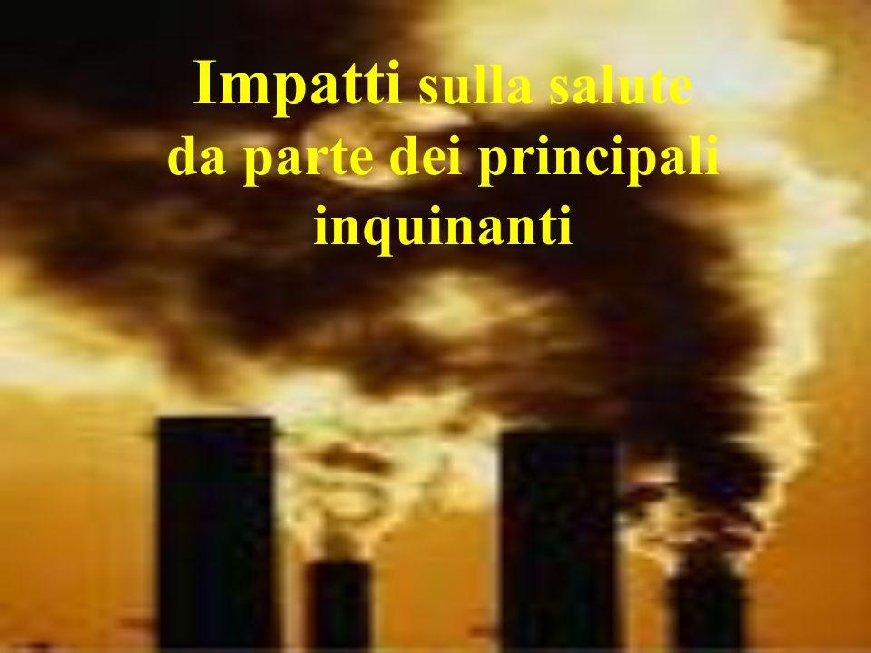 Impatti sulla salute da parte dei principali inquinanti