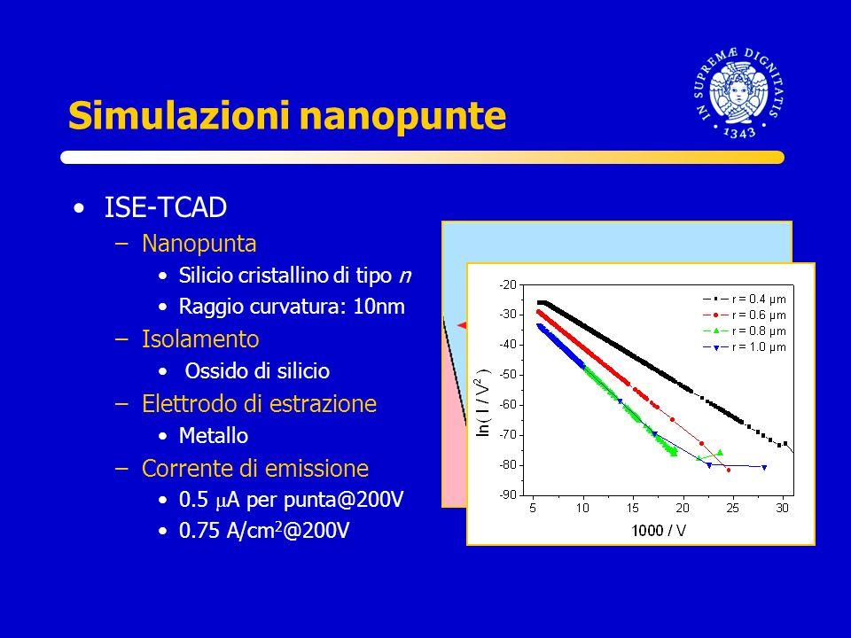 Simulazioni nanopunte