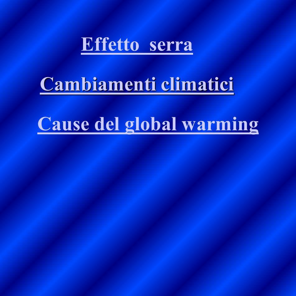Cambiamenti climatici Cause del global warming