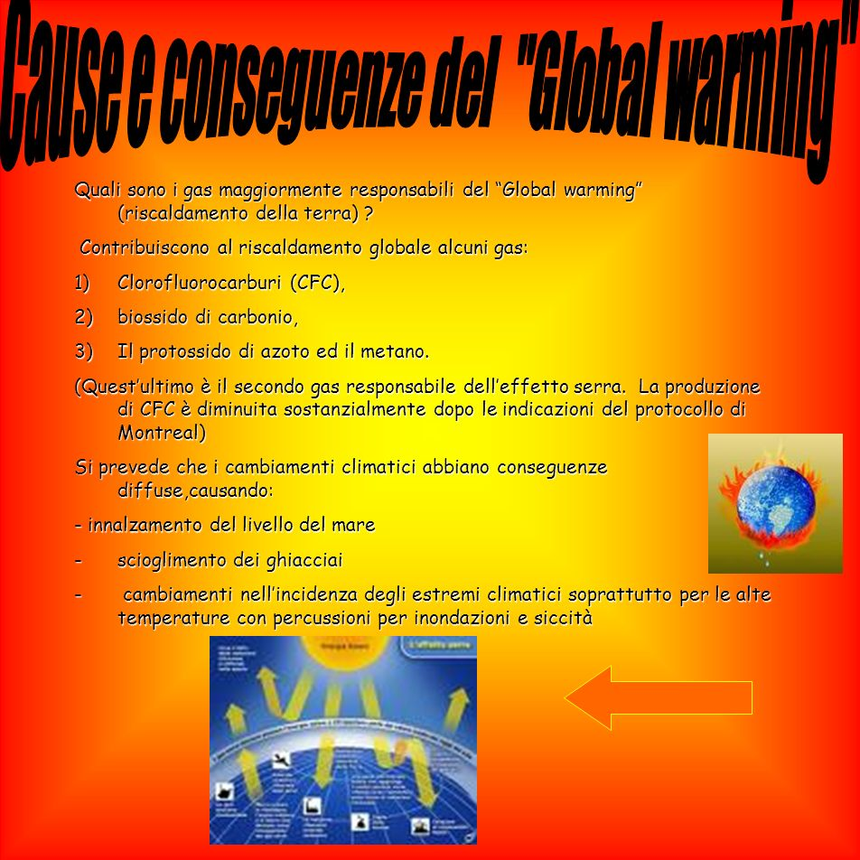 Cause e conseguenze del Global warming