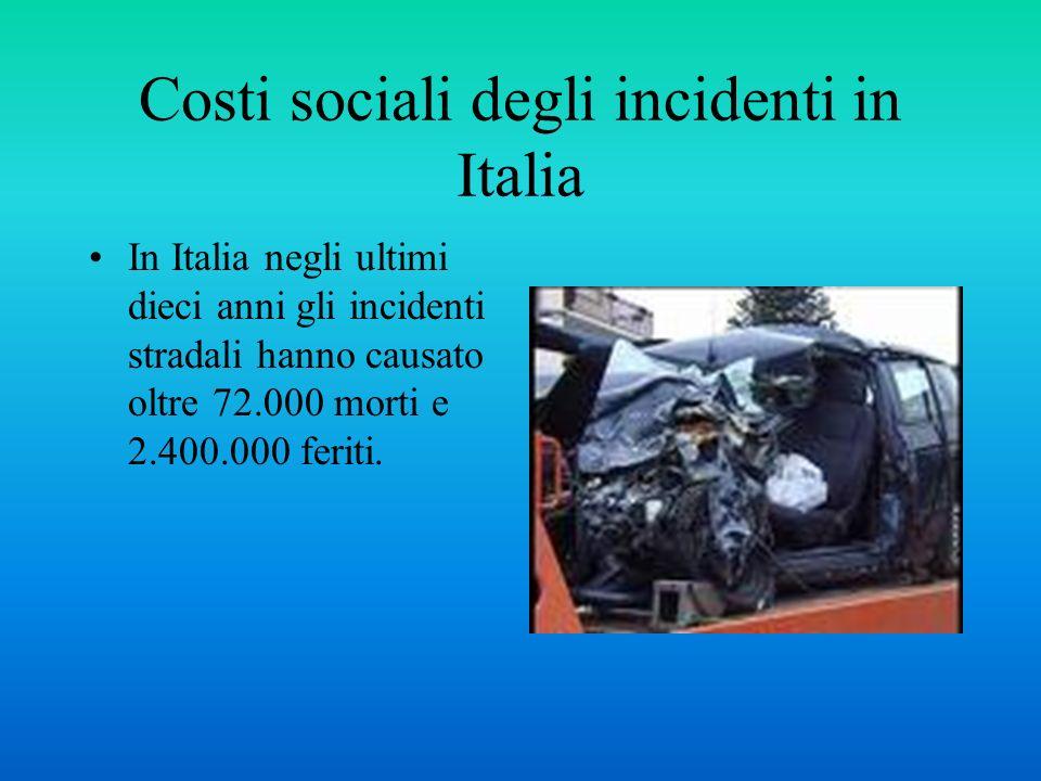 Costi sociali degli incidenti in Italia