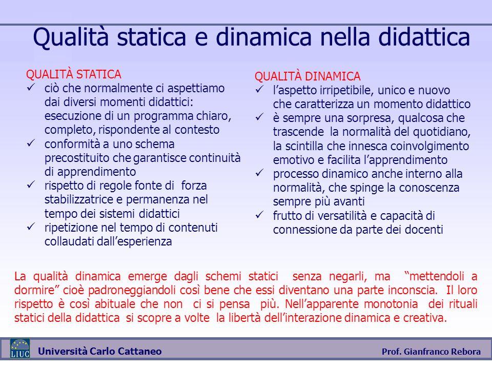 Qualità statica e dinamica nella didattica