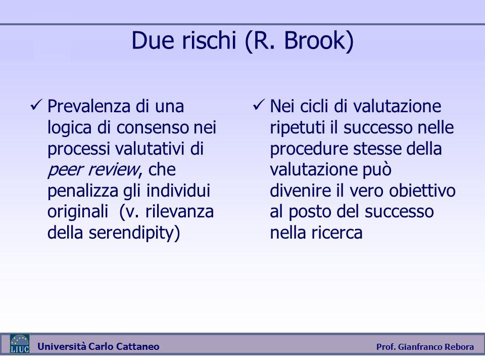 Due rischi (R. Brook)