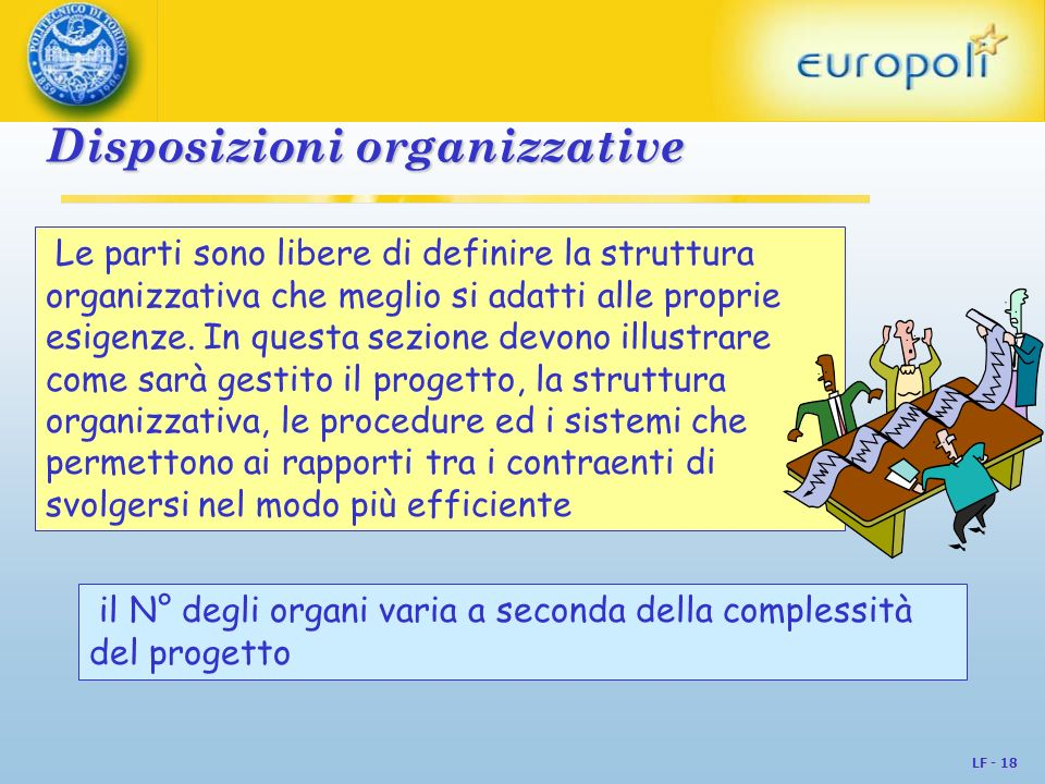 Disposizioni organizzative