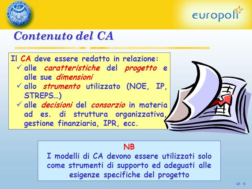 Contenuto del CA Il CA deve essere redatto in relazione: