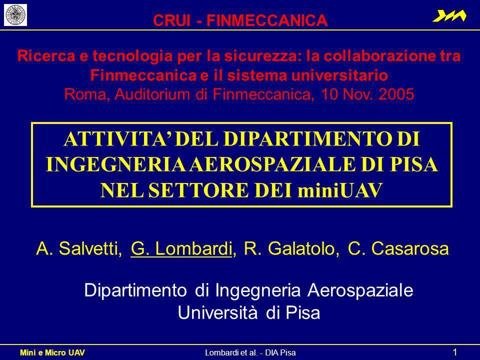 CRUI - FINMECCANICA Ricerca e tecnologia per la sicurezza: la collaborazione tra Finmeccanica e il sistema universitario.