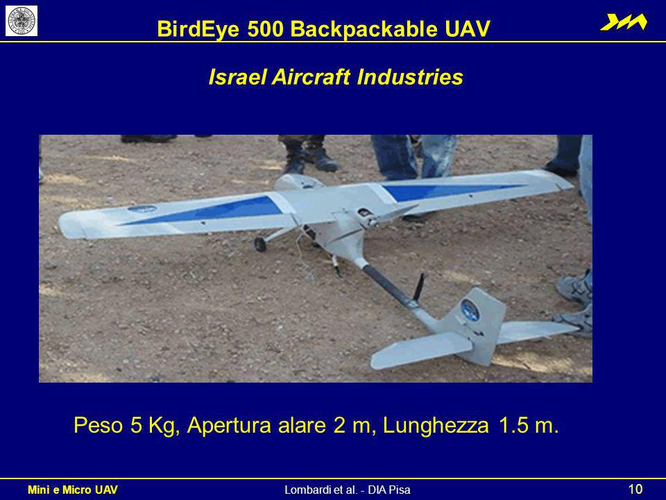 BirdEye 500 Backpackable UAV