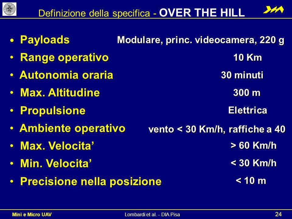 Definizione della specifica - OVER THE HILL