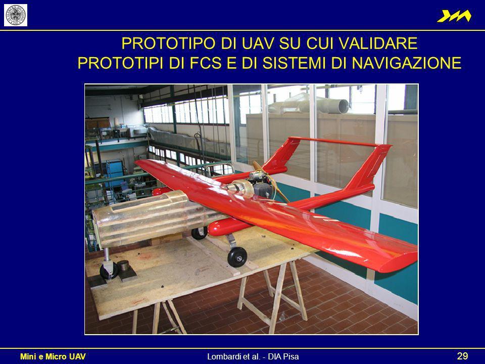 PROTOTIPO DI UAV SU CUI VALIDARE PROTOTIPI DI FCS E DI SISTEMI DI NAVIGAZIONE