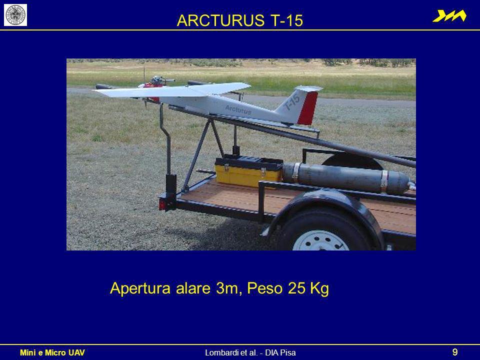 ARCTURUS T-15 Apertura alare 3m, Peso 25 Kg
