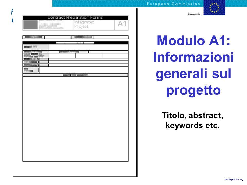 Modulo A1: Informazioni generali sul progetto