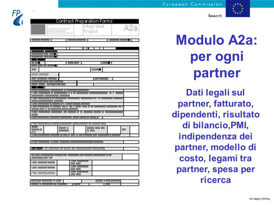 Modulo A2a: per ogni partner