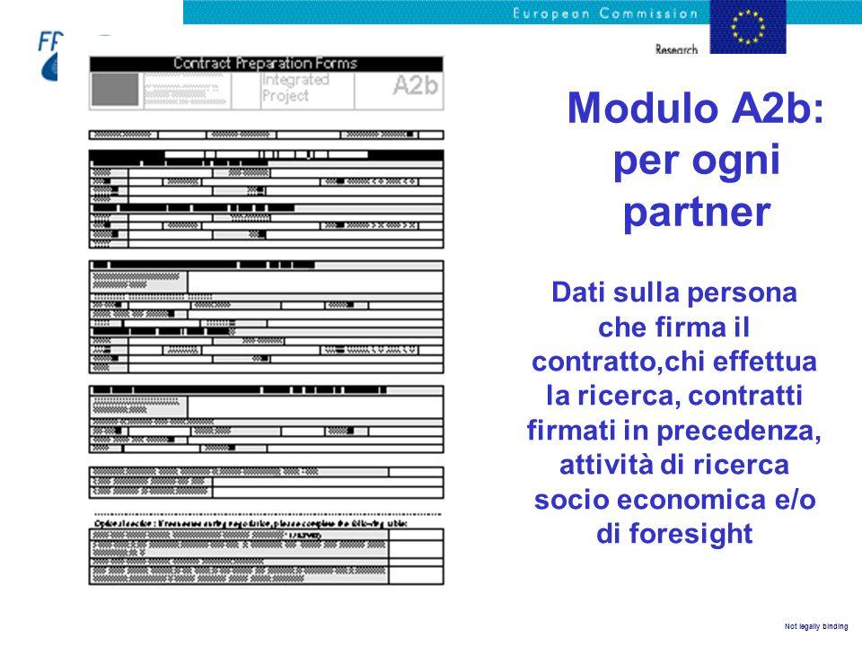 Modulo A2b: per ogni partner