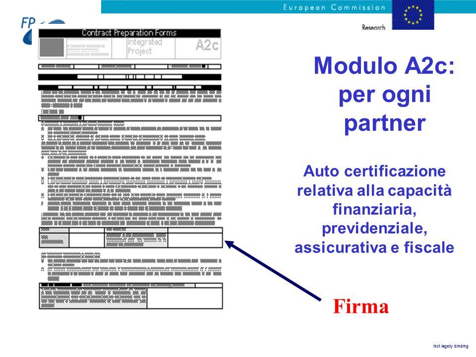 Modulo A2c: per ogni partner