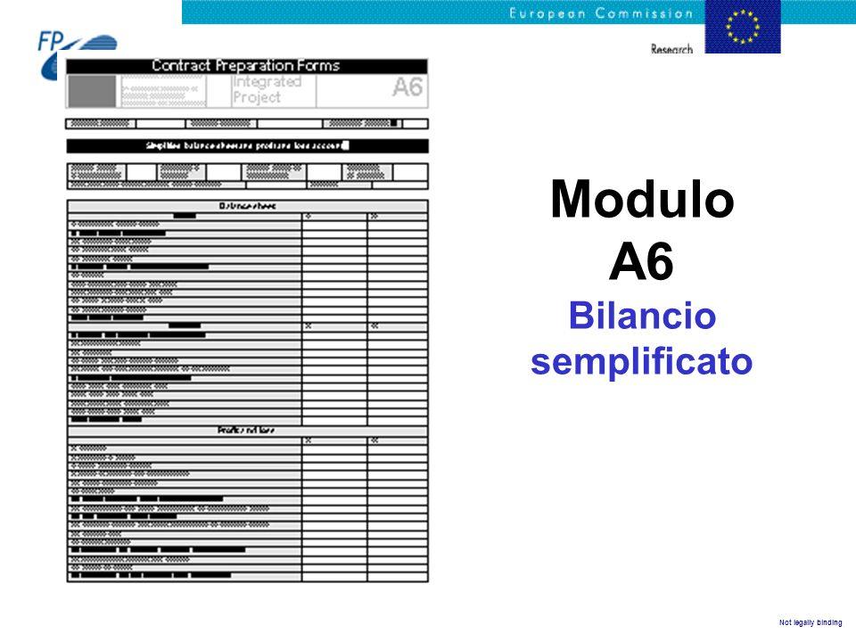 Modulo A6 Bilancio semplificato