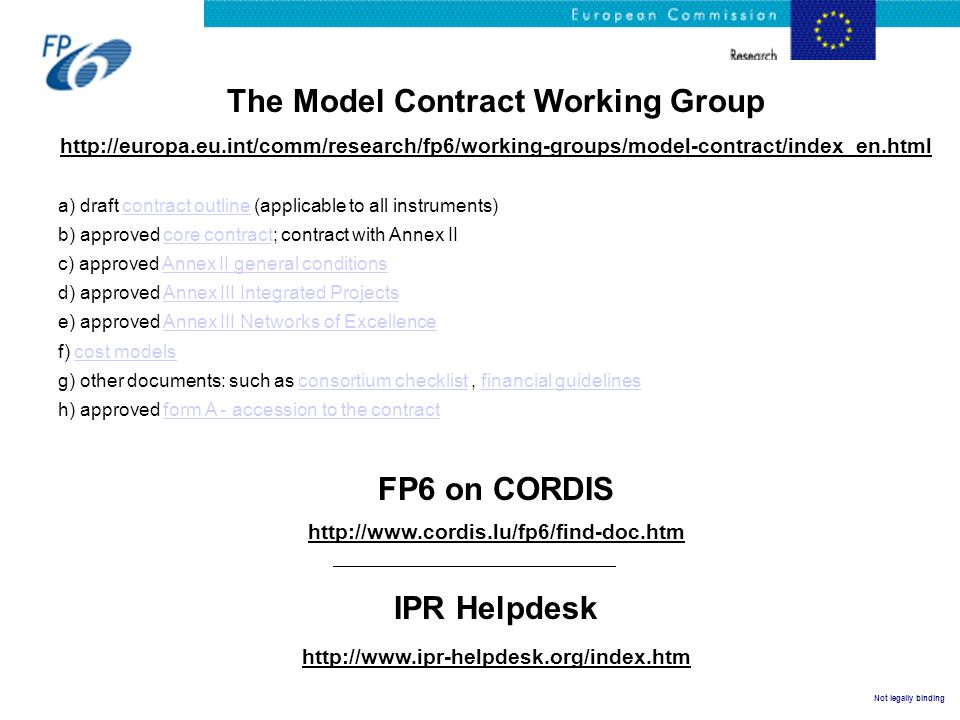 The Model Contract Working Group