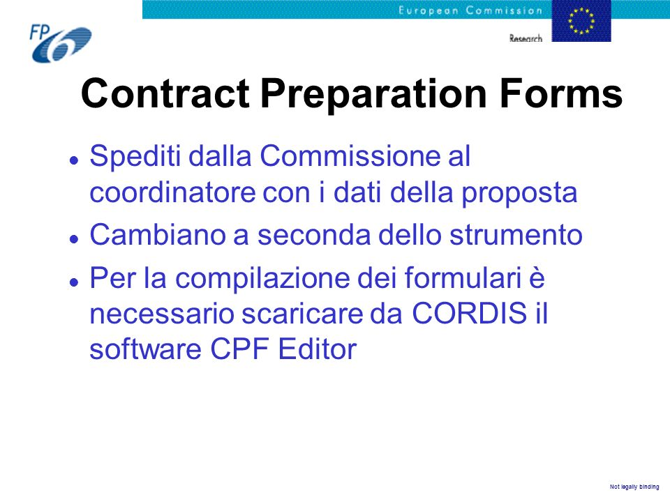 Contract Preparation Forms