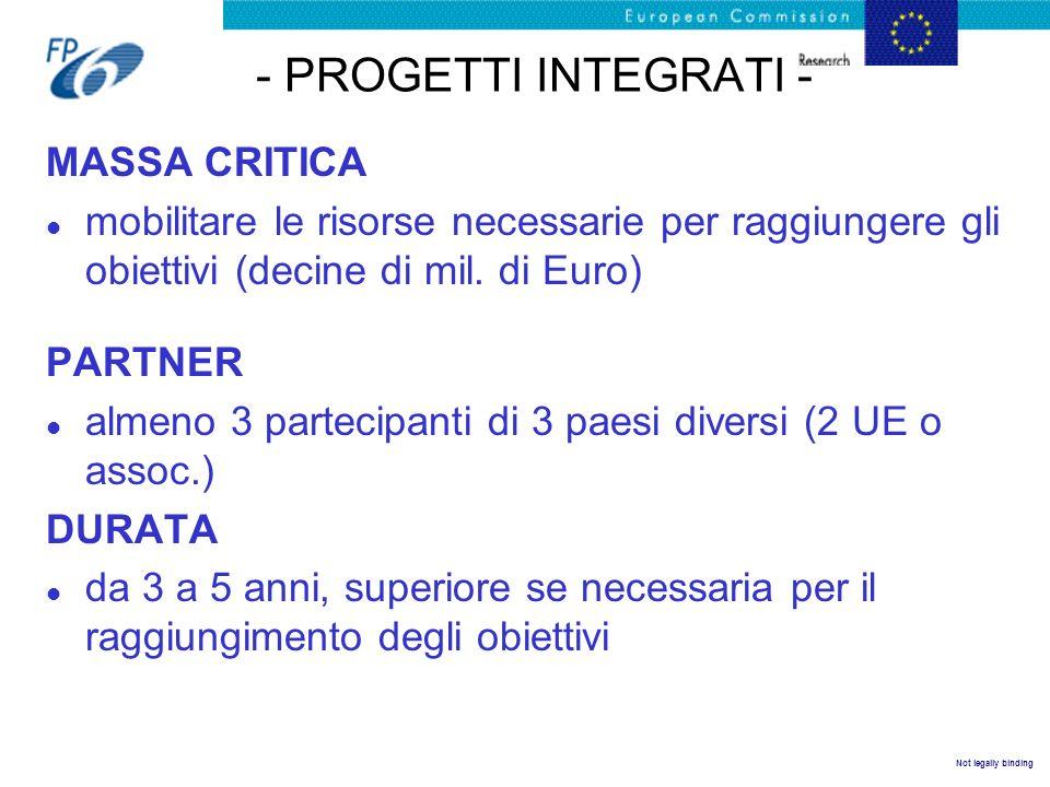 - PROGETTI INTEGRATI - MASSA CRITICA