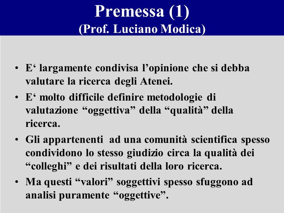 Premessa (1) (Prof. Luciano Modica)
