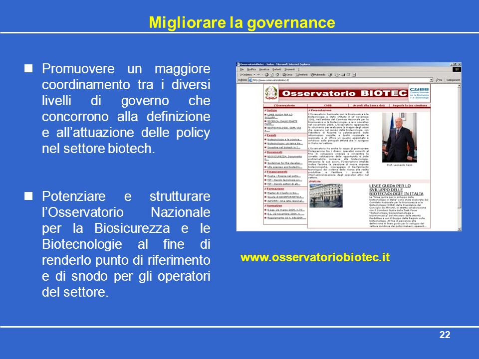 Migliorare la governance