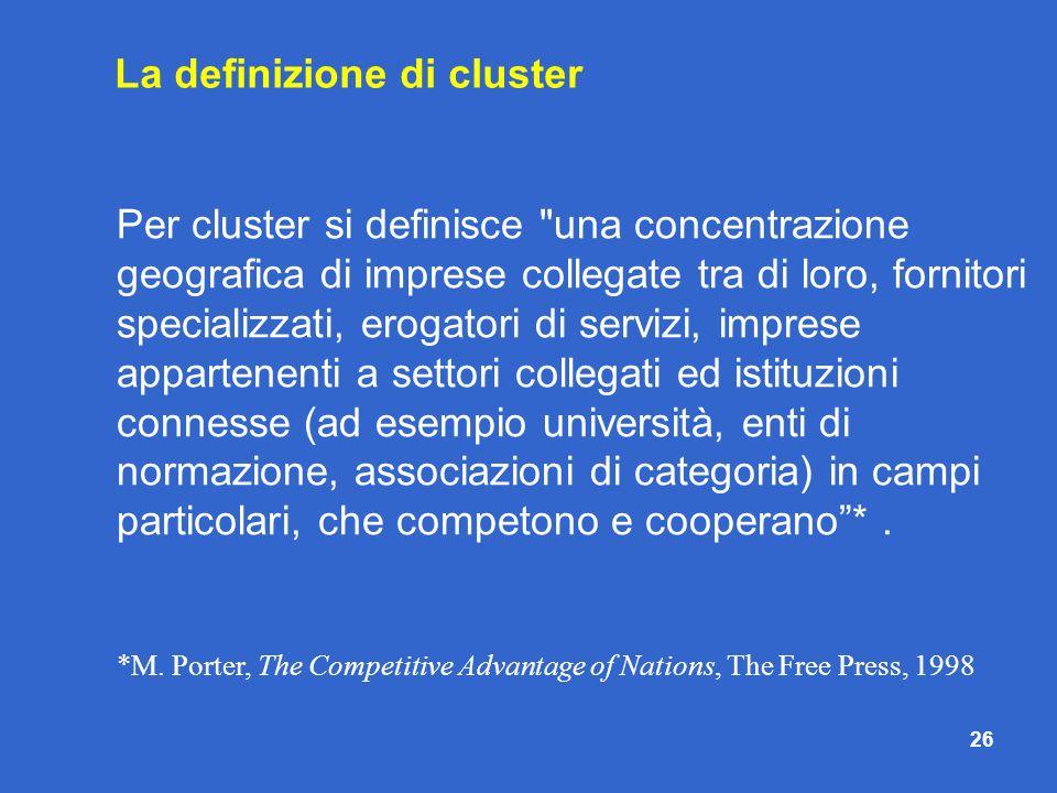 La definizione di cluster
