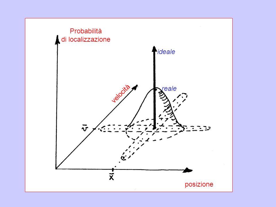 Probabilità di localizzazione ideale reale velocità posizione