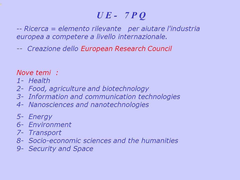 -- Creazione dello European Research Council