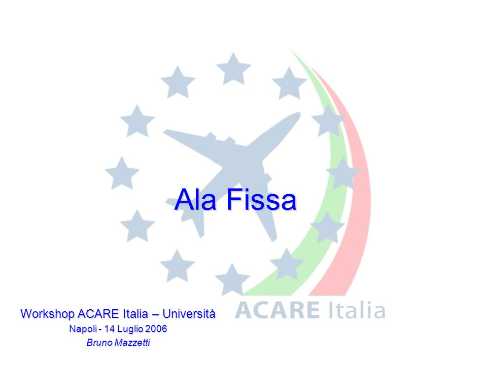 Workshop ACARE Italia – Università
