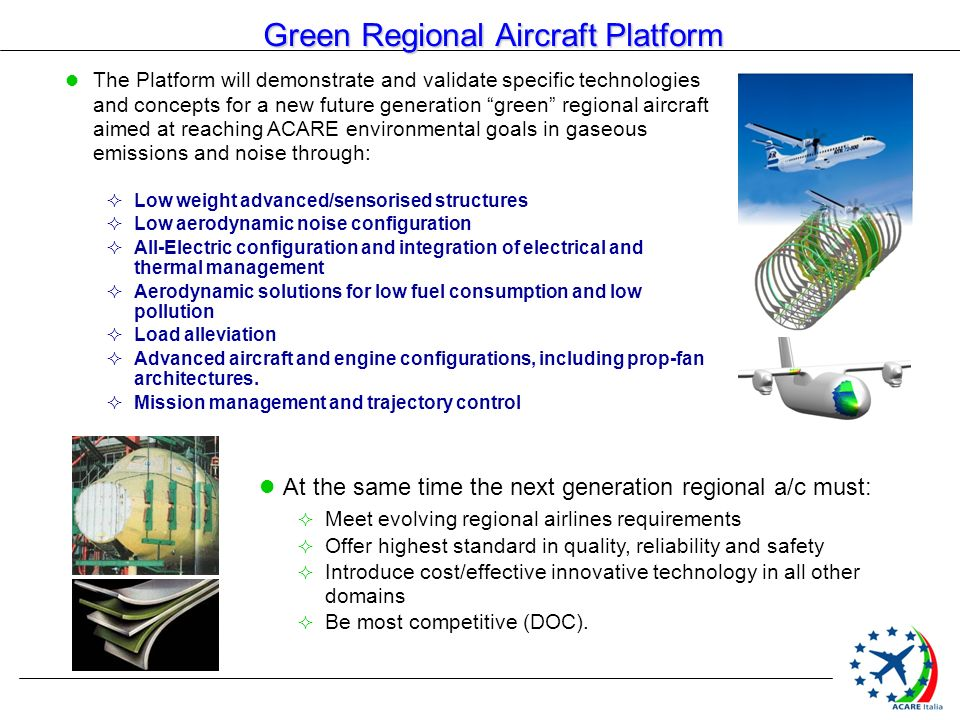 Green Regional Aircraft Platform