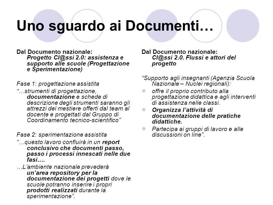Uno sguardo ai Documenti…