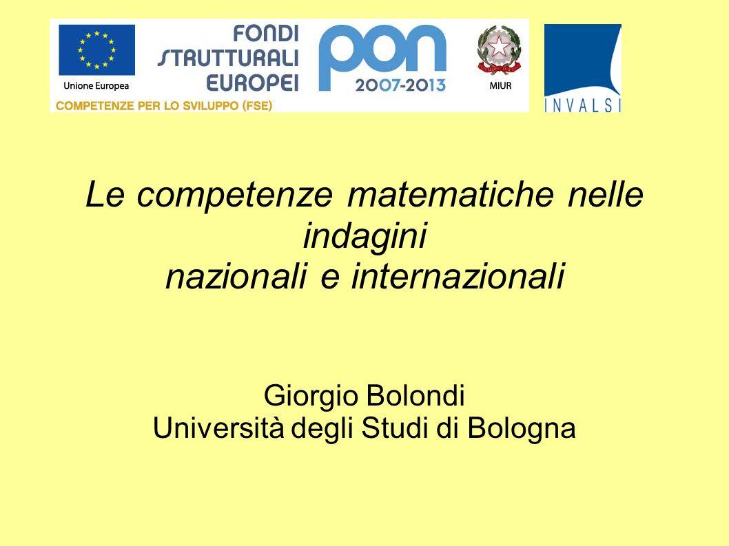 Le competenze matematiche nelle indagini nazionali e internazionali