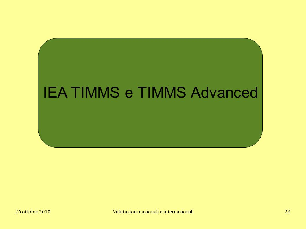 IEA TIMMS e TIMMS Advanced