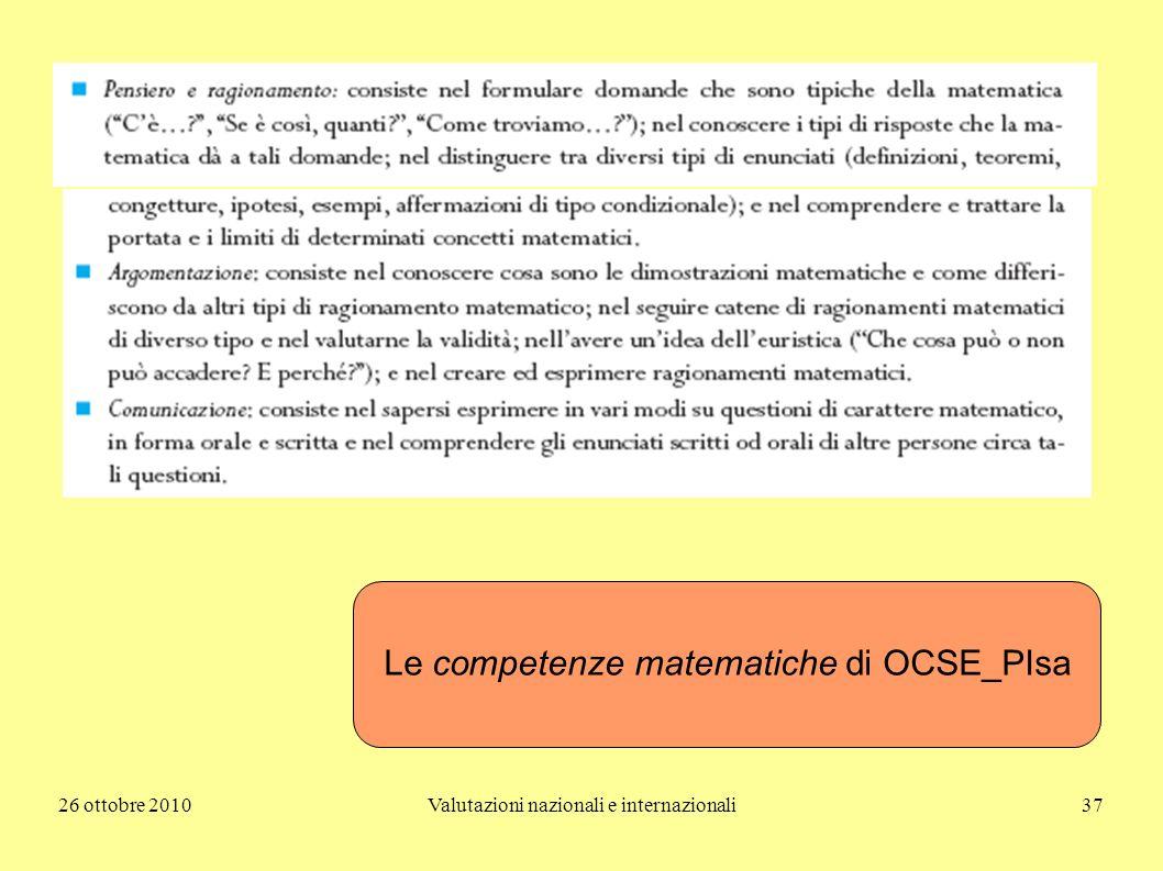 Le competenze matematiche di OCSE_PIsa
