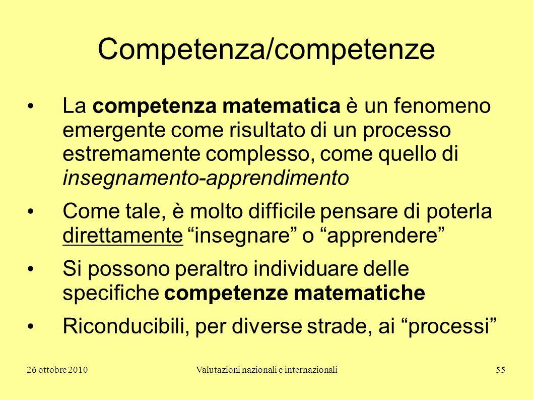 Competenza/competenze
