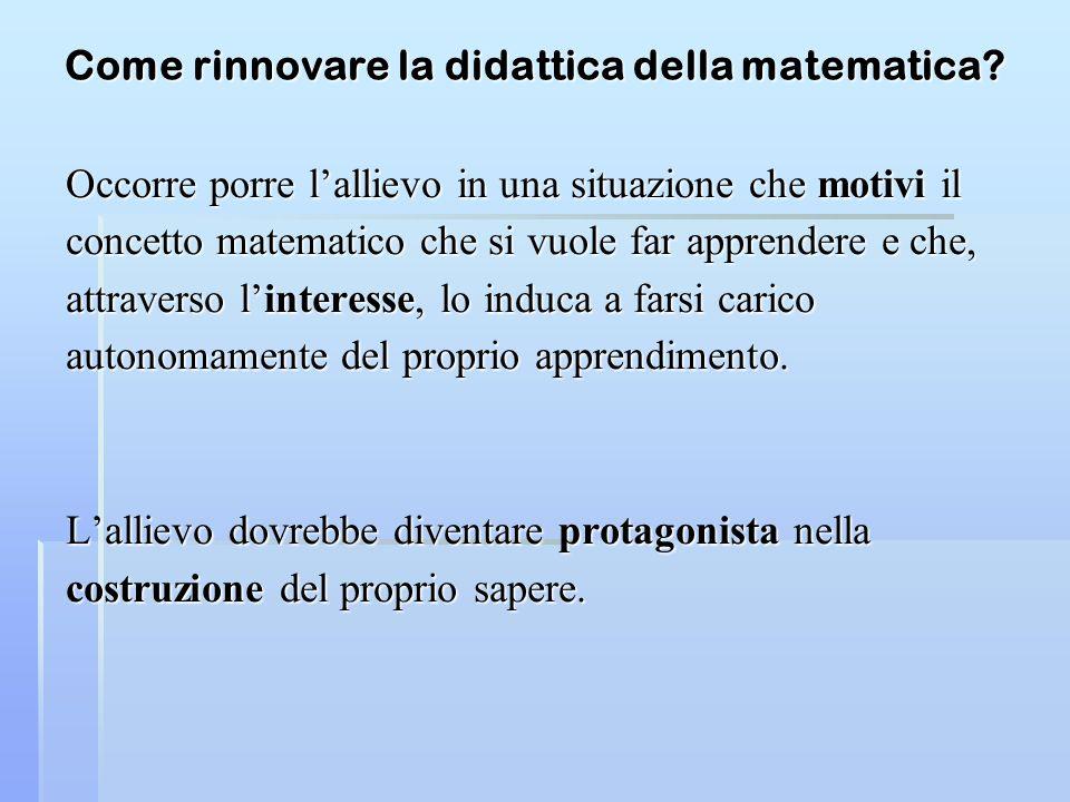 Come rinnovare la didattica della matematica