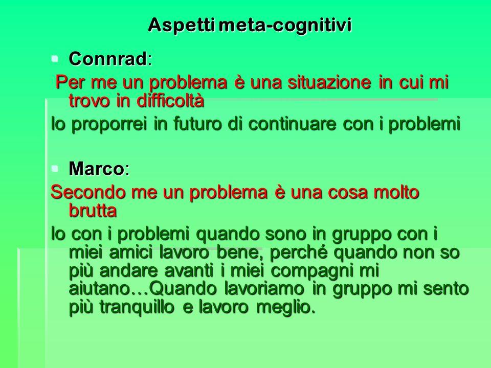 Aspetti meta-cognitivi