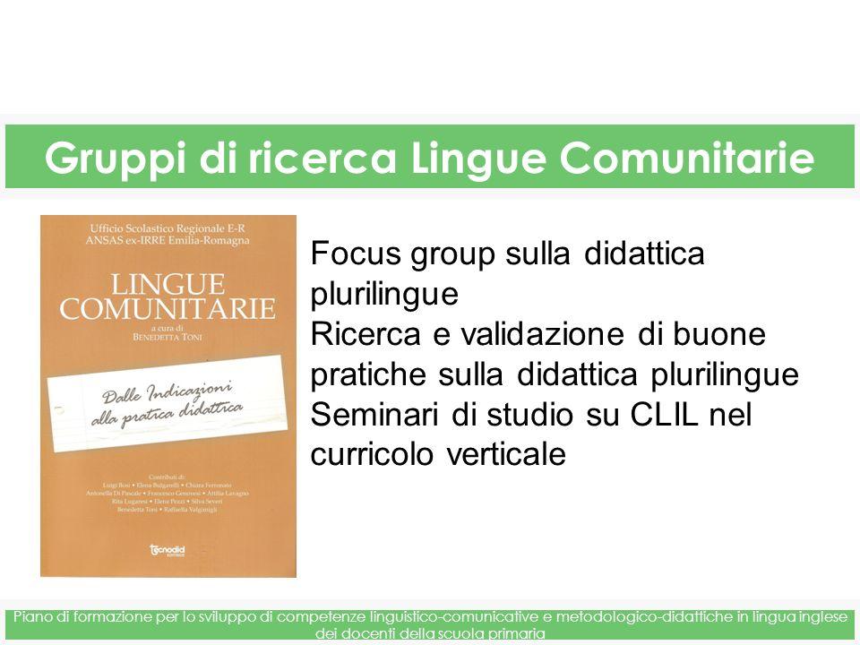 Gruppi di ricerca Lingue Comunitarie