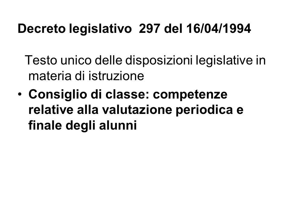 Decreto legislativo 297 del 16/04/1994