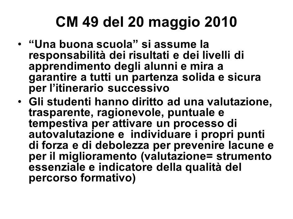 CM 49 del 20 maggio 2010