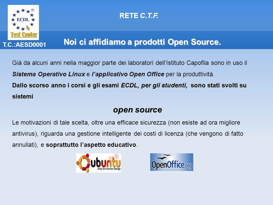 Noi ci affidiamo a prodotti Open Source.