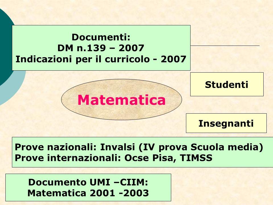 Indicazioni per il curricolo - 2007