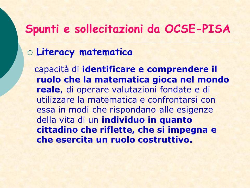 Spunti e sollecitazioni da OCSE-PISA
