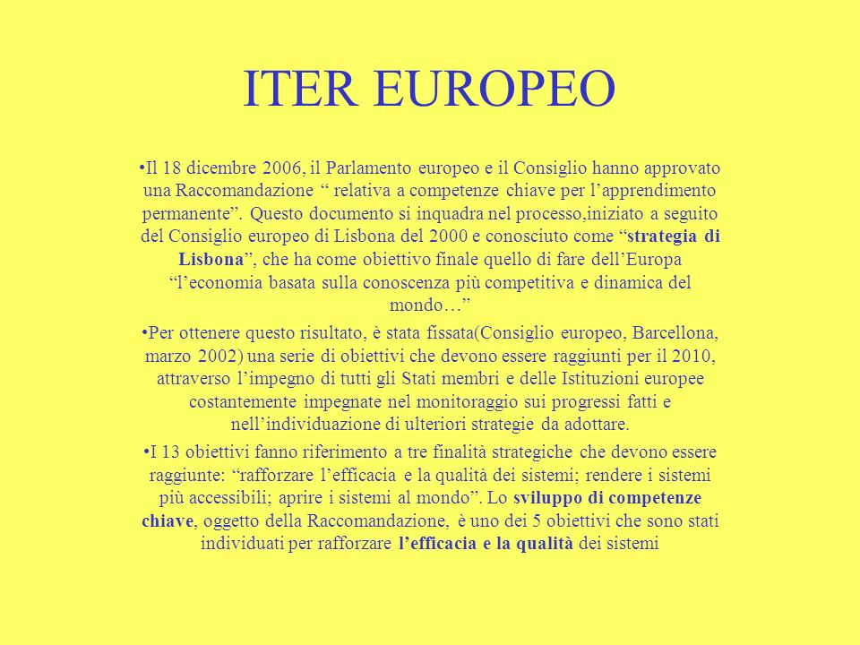 ITER EUROPEO