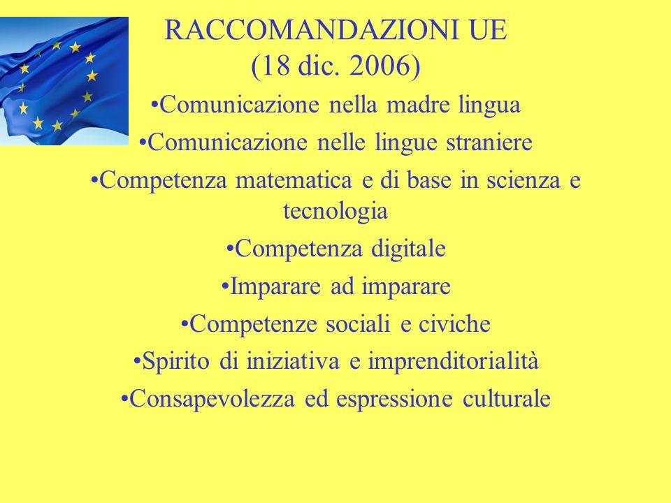 RACCOMANDAZIONI UE (18 dic. 2006)